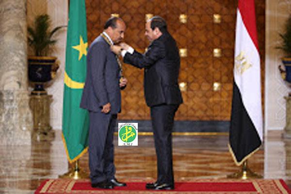 Le Président El Sissi décerne le Collier du Nil à Ould Abdel Aziz…VIDEO