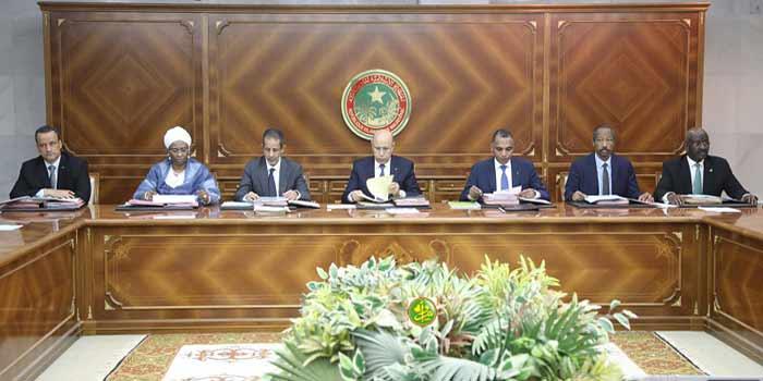 MAURITANIE : Conseil de Ministre du jeudi 09 juillet 2020